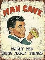 'Man Cave' Metal Sign